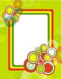 яркая рамка круга Стоковое Изображение