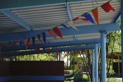 Яркая расцветка нового здания детского сада в западной части города  Стоковое Изображение RF