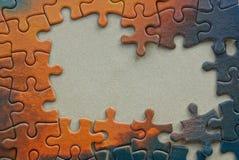 Яркая серая коричневая текстура бумажных головоломок Стоковые Изображения RF