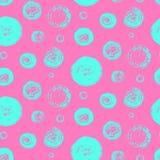 Яркая синь на розовом grunge объезжает картину Стоковая Фотография RF