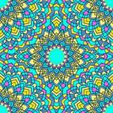 Яркая смешанная предпосылка ослепительного рук-чертежа орнаментальная флористическая абстрактная безшовная с много деталей для ди Стоковое Изображение RF