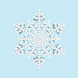 Яркая снежинка с жемчугами, иллюстрация вектора Стоковые Фотографии RF