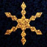 Яркая снежинка торжества треугольников с золотым Eff цветов иллюстрация вектора