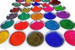 Яркая сухая краска в плитах. Стоковая Фотография RF