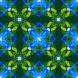 Яркая текстура конспекта голубого зеленого цвета Сложная иллюстрация предпосылки Картина печати ткани Милая безшовная плитка Дома Стоковое Изображение