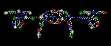 Яркая туша Airdrone сетки с засветками экрана иллюстрация штока