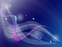 Яркая футуристическая голубая, фиолетовая предпосылка с кругами, волнами, s Стоковая Фотография RF