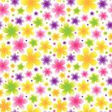 Яркая флористическая безшовная картина на светлой предпосылке Стоковое фото RF