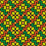 Яркая флористическая безшовная шить картина Стоковые Изображения