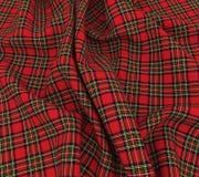 яркая шотландская ткань ткани шотландки тартана 3d Стоковое Фото