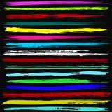 Яркая щетка штрихует красивое собрание для дизайна Стоковая Фотография