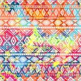 Яркая этническая картина striped геометрическое предпосылки Стоковая Фотография RF
