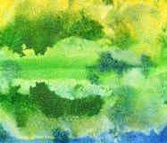 Яркая handdrawn текстура предпосылки акварели Стоковая Фотография