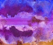 Яркая handdrawn текстура предпосылки акварели Стоковые Фото