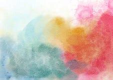Яркая, multicolor предпосылка акварели стоковые фото