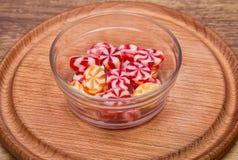 Яркая striped конфета Стоковое Фото