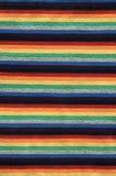 яркая striped ткань Стоковая Фотография