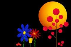 Яркие абстрактные цветки Стоковые Изображения