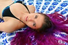 яркие волосы Стоковое Изображение