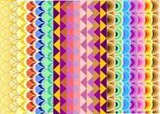 Яркие геометрические картины Стоковое Изображение RF
