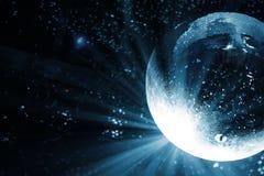 Яркие заплаты света на шарике диско подкрашивано Стоковое Изображение