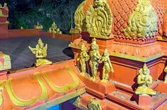 Яркие золотые скульптуры Стоковые Изображения