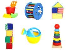 яркие игрушки комплекта стоковые фото