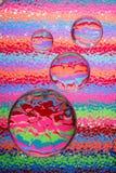 яркие камушки стекла цветов стоковое фото