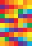 Яркие квадраты сработанностей цвета вектора Стоковые Фотографии RF