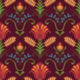 Яркие красные цветки на темной предпосылке Бесплатная Иллюстрация