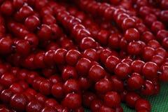 Яркие красные шарики Стоковая Фотография