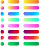 Яркие красочные шаблоны значка изолированные на белизне Стоковое Изображение
