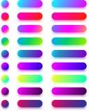 Яркие красочные шаблоны значка изолированные на белизне Стоковые Фото