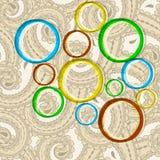 Яркие круги на безшовной предпосылке иллюстрация вектора