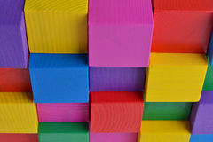 Яркие кубы Стоковые Фото