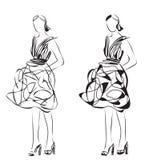 яркие модели способа цветов белые эскиз Стоковые Фотографии RF