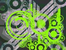 яркие относящие к окружающей среде зеленые части машины иллюстрация вектора