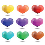 Яркие пестротканые сердца, шаблон на день валентинки и мы Стоковое Изображение