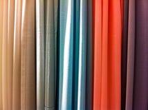 Яркие покрашенные занавесы Стоковая Фотография RF