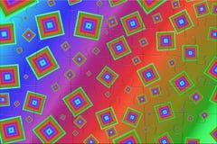Яркие покрашенные квадраты на предпосылке радуги Стоковое Фото