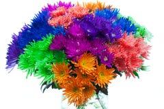 Яркие покрашенные цветки Стоковая Фотография