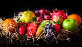 Яркие плодоовощи цвета Стоковые Изображения