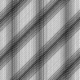 Яркие раскосные нашивки и квадраты на черной предпосылке Бесконечное безшовное Стоковые Изображения