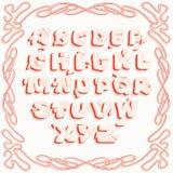 Яркие розовые письма латинского алфавита, с имитацией тома бесплатная иллюстрация