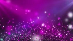 Яркие розовые сияющие звезды закрепляя петлей предпосылка движения сток-видео