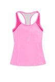 Яркие розовые спорт покрывают при racerback, изолированное на белом backgr Стоковые Изображения RF