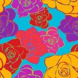 яркие розы картины безшовные Стоковые Фото