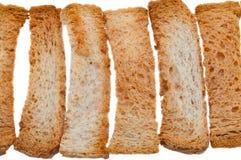 Яркие свежие хлебцы сделанные из белого хлеба пшеницы на белой предпосылке стоковое изображение