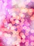 Яркие света на цветастой предпосылке Аннотация Стоковые Изображения