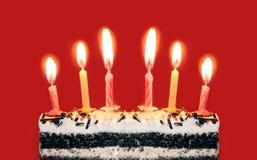Яркие свечки дня рождения Стоковая Фотография RF